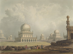 Tombs of the Kings of Golconda, drawn 1813